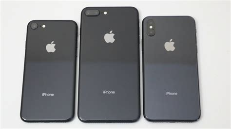 iphone 8 vs iphone 8 plus vs iphone x