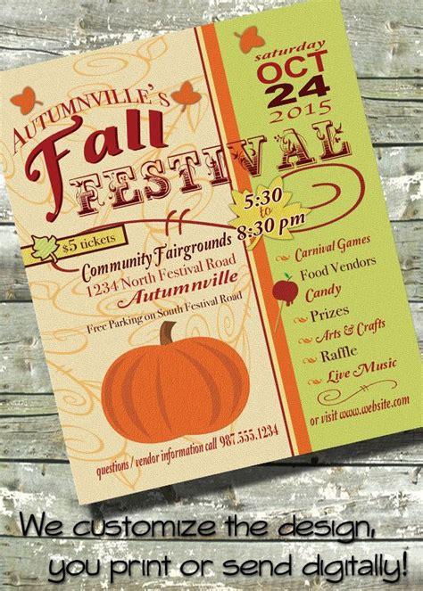 Harvest Fest Fall Festival Church Or Community Event 5x7 Invite 8 5x11 Flyer 11x14 Harvest Festival Flyer Free Template