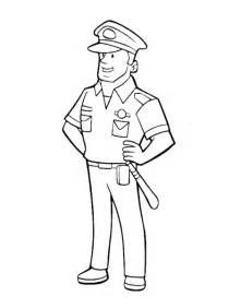 Coloring Page Policeman Police Officer Sketch sketch template