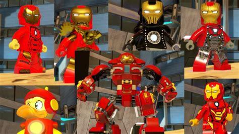 iron man suits lego marvel superheroes youtube