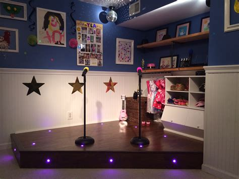 play stage for room white playroom stage diy projects