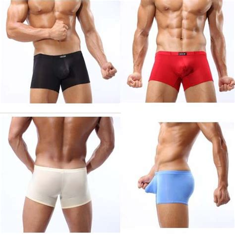 Buy 1 Get 1 Free Promo Gila Boxer Celana Dalam Pria Limited free shipping s boxer shorts s silk sheer boxers low rise pouch casual
