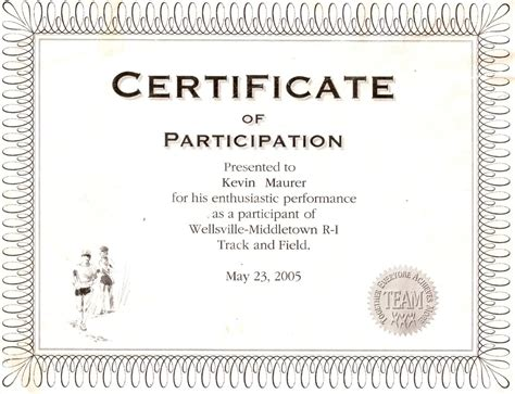 best photos of wording for certificate of participation
