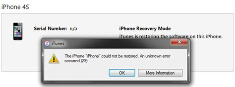 how to fix itunes error 29 iphone 4s 5 5c 5s 6 6 6s 7
