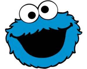 cookie monster sesame street blue repeat character face wristband bracelet
