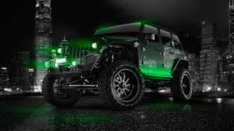 Neon Green Jeep Jeep Wrangler City Car 2014 El Tony