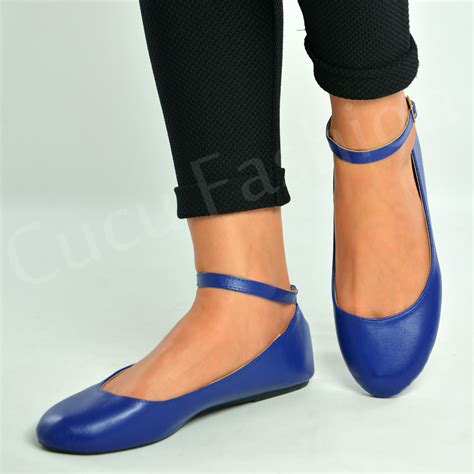 Ballet Flats 3 by Brand New Ankle Ballerina Flats Dolly Pumps Court