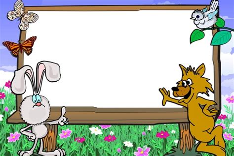 design frame cartoon cute photo frames free download images