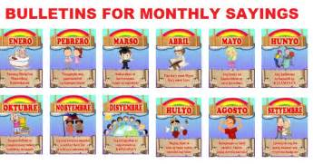 new display bulletins for monthly sayings january