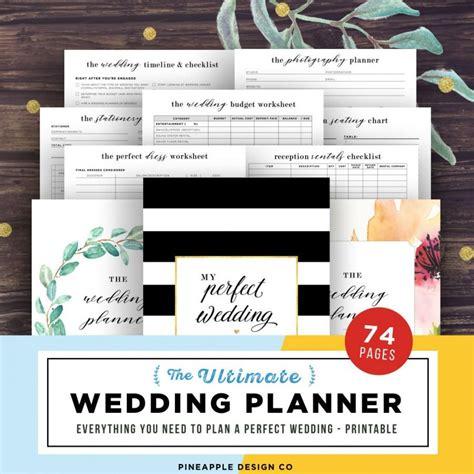 Wedding Organizer Free Printable by Wedding Planner Printable Wedding Planning Book Wedding