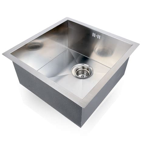 Industrial Kitchen Sinks Stainless Steel Commercial Stainless Steel Kitchen Sinks Square Single Bowl Catering Drainer Kit Ebay