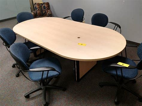 4 X 8 Conference Table Wood Conference Table 8 X 4 Office Furniture Cubicles K Bid