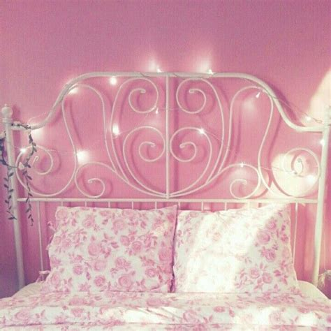 girly beds girly bed with pretty lights pink interiors pinterest