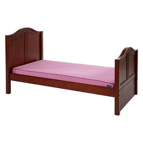 maxtrix beds twin bed in chestnut with curved bed ends by maxtrix 210