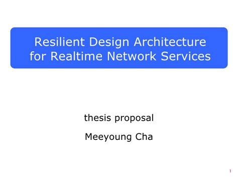 bullying thesis slideshare thesis proposal meeyoung cha resilient design architecture