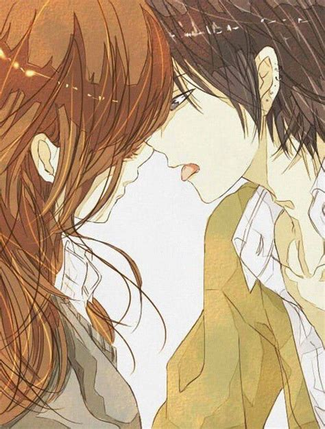 anime kiss image via we heart it anime kiss manga boy girl