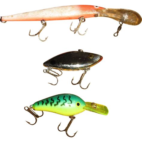 plastic fishing three vintage plastic fishing lures for your tackle