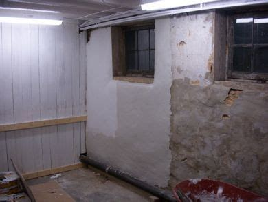 Solution for crumbling parging on 85yo basement walls