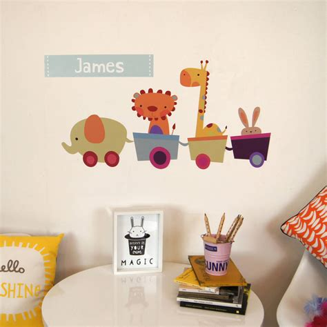 personalised wall sticker personalised animal wall stickers by parkins
