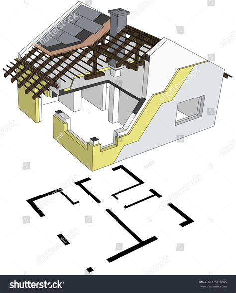 exploded floor plan architectural exploded perspective view home structure