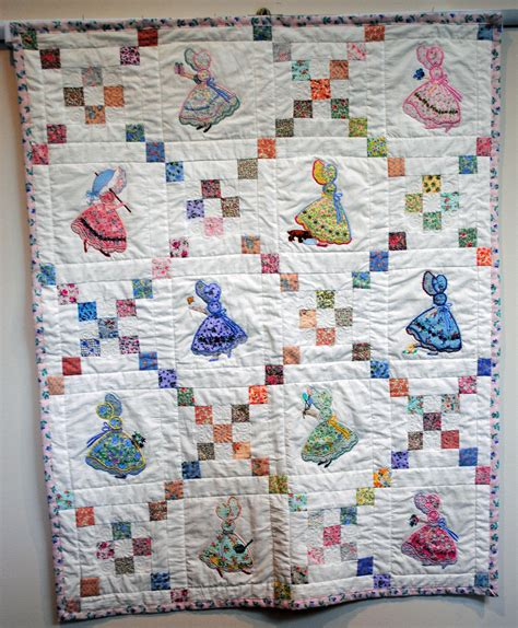 etsy quilt pattern baby quilt applique sunbonnet sue by egree2 on etsy
