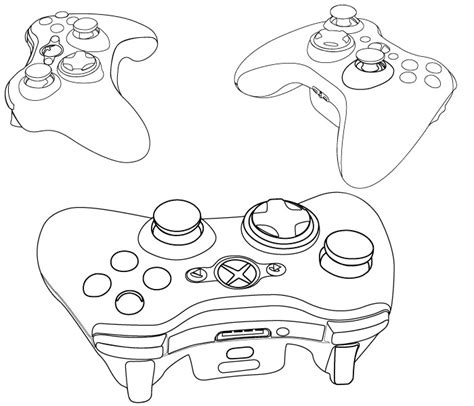 xbox controller outline by kazul2112 on deviantart