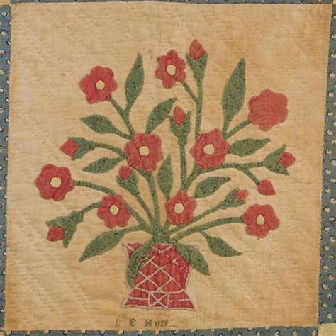 Antique Quilt Appraisers by Textile Time Travels Day 7 38 Flower Power