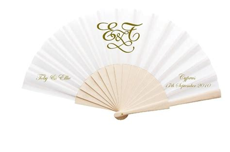 Wedding Fans by New Personalised Wedding Fans Fabric And Wooden Handle