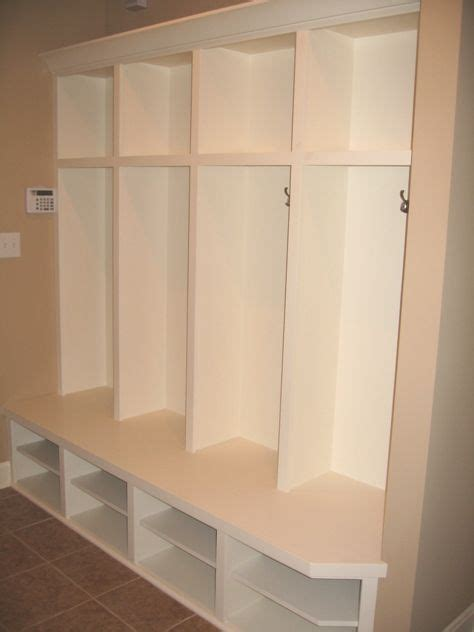 transition mud room custom built coat storage cubby