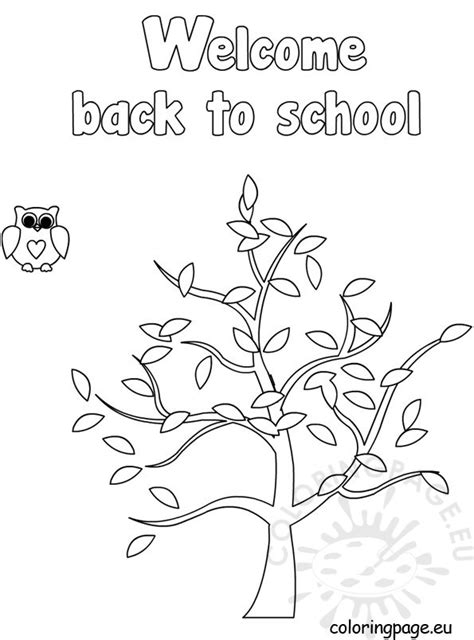 welcome back to template coloring page