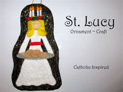 st lucy craft liturgical ornament catholic inspired