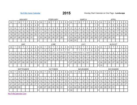 printable calendar no dates no frills calendar 2016 calendar template 2016