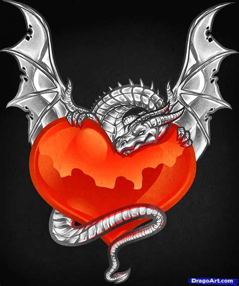 dragon heart tattoo designs wolf and how to draw a