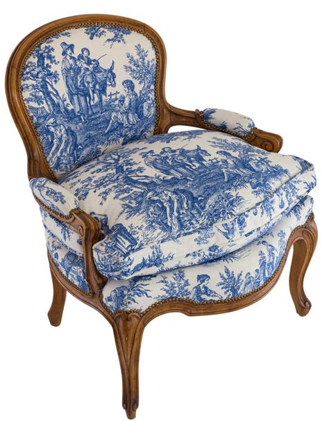 toile armchair blue and white toile country french chair at 1stdibs