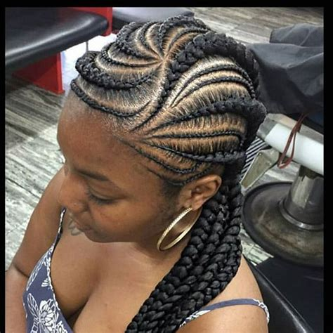 cool pics of afro up dos in cornrow with french roll african braids hairstyles cool braided hairstyles for