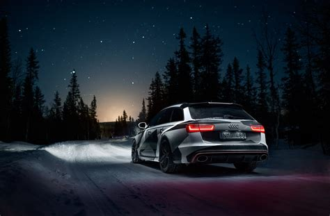 audi rs6 avant on night road wallpapers and images