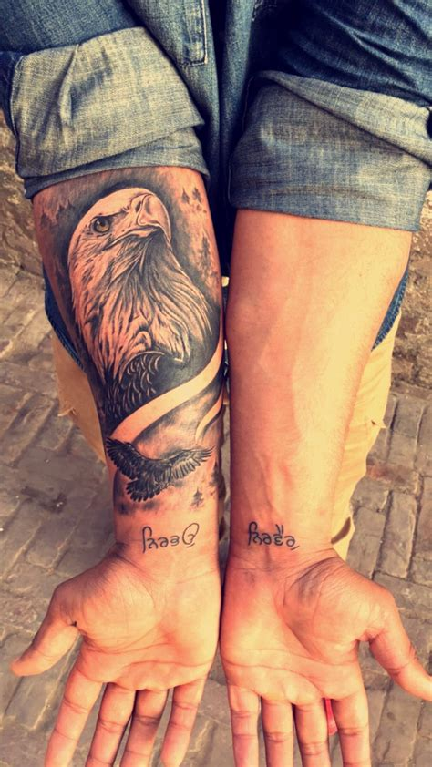 eagle forearm tattoo an eagle by babbu kaila eagle tatoo