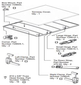 Tonneau Cover Parts List Installation Guide For Folding Tonneau Covers