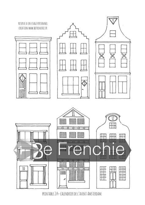 Maisons d'Amsterdam : mon calendrier de l'Avent à imprimer