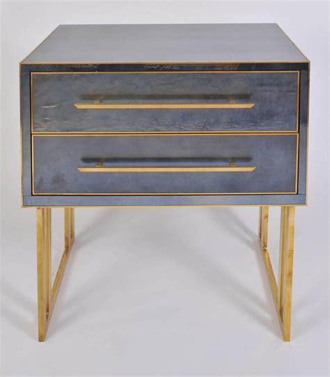 italian  bluegrey bedside tables  nightstands