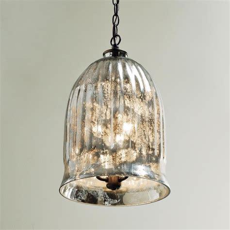 Antique Mirror Bell Pendant Lantern Outdoor Hanging Antique Glass Pendant Lights