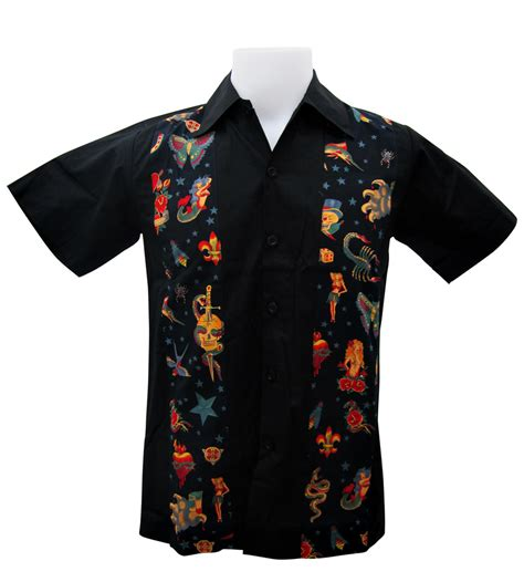 tattoo shirt designs rockabilly bowling shirts rod work shirts