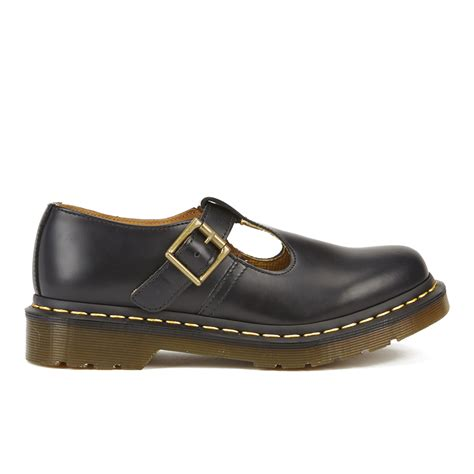 womens flat t bar shoes dr martens s polley smooth leather t bar flat