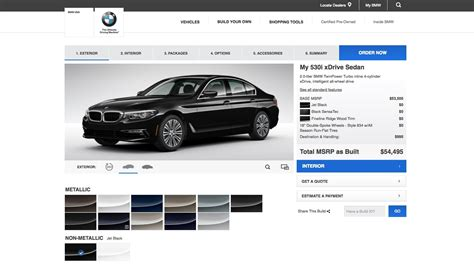 Auto Konfigurator Bmw by Bmw G30 5 Series Configurator Goes Online For U S Model