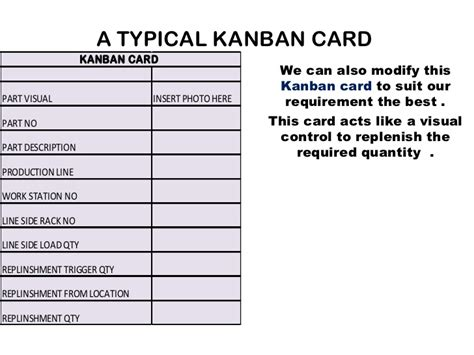 kanban card for inventory template kanban system presentation for 2003