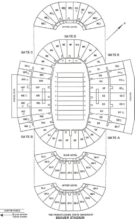 penn state football seating chart penn state stadium seating images