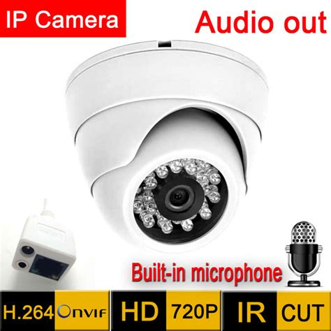 Cctv 208 Infrared With Mic Adaptor mini ip 1280 720 hd microphone audio output security indoor demo vision ir cut cctv
