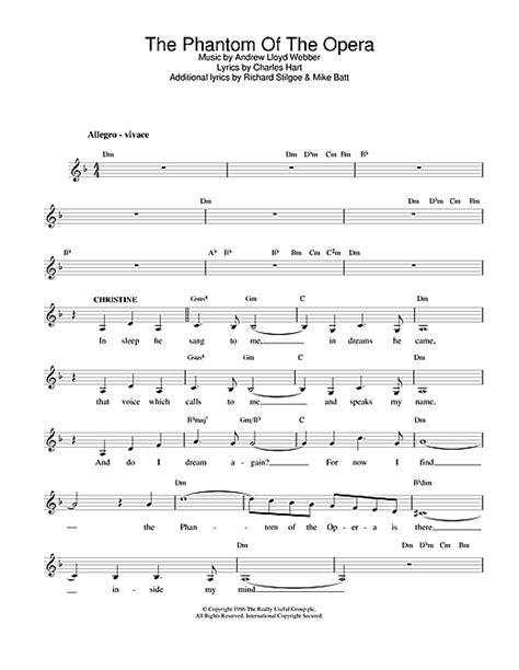 piano tutorial phantom of the opera the phantom of the opera chords by andrew lloyd webber