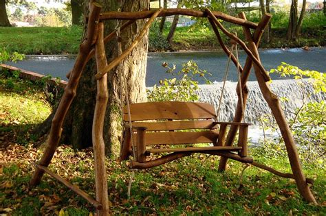 swinging benches for the garden image detail for oak 2 seater garden swing bench have a