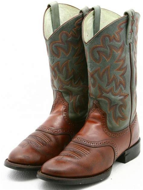 ariat cobalt xr pro womens cowboy boots size 6 blue brown